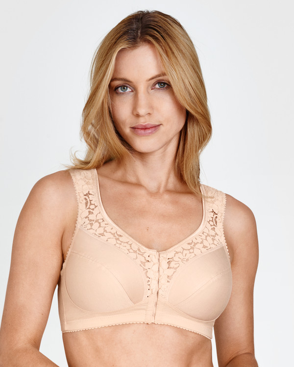 Bh utan bygel framknäppt Cotton Lace Miss Mary